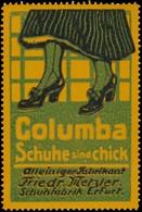 Erfurt: Columba Schuhe Sind Chick Reklamemarke - Vignetten (Erinnophilie)