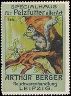 Leipzig: Feh - Eichhörnchen Reklamemarke - Vignetten (Erinnophilie)