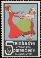 Leipzig: Steinbachs Aromatische Spaten-Seife Reklamemarke - Vignetten (Erinnophilie)