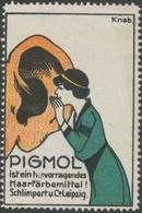 Leipzig: Pigmol Haarfärbemittel Reklamemarke - Vignetten (Erinnophilie)