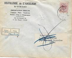 -Disillerie De L'ARGILIERE à St. GERARD(Namur)- Cognac, Fines, Genièvres,Portos ,Vins Et Champagnes - Alcools