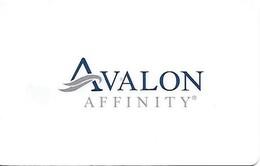Avalon Affinity Cruise Ships - Cartes D'hotel
