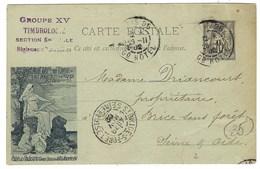 France, Entier Postal, G 18 B, Exposition Du Livre ( Sur CP G8 ) 1894 - Postal Stamped Stationery