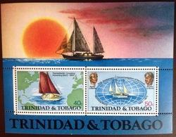 Trinidad & Tobago 1974 World Voyage Minisheet MNH - Trinidad & Tobago (1962-...)