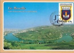 14.9.2002  -  LA MOSELLE - ENTRE GREVENMACHER ET MACHTUM  Poto H.Modert,Machtum - Cartes Maximum