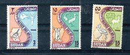 SUDAN, 1966, ANIMALS, BIRDS, 3v. MNH** - Stamps