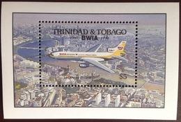 Trinidad & Tobago 1990 BWIA Anniversary Aircraft Aviation Minisheet MNH - Trinidad & Tobago (1962-...)