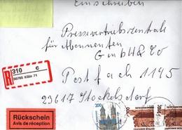 ! 7 Einschreiben 1994-96 Davon 3 Mit Selbstklebenden R-Zetteln  Aus Köln, 50765,50668,50937,50670,50933,50858,51105 - [7] République Fédérale