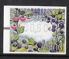 Aland Åland 2003 Automat Stamp Berries, Bilberry (Vaccinium Myrtillus), Mi A 14, MNH(**). - Aland