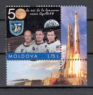 Moldova 2019 50 Anniversary Of The Apollo 10 Space Mission Personalized Stamp** MNH - Moldova