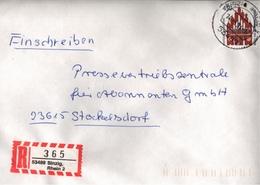 ! 2 Einschreiben 1994 Mit R-Zetteln  Aus Sinzig, 53489 - R- Und V-Zettel