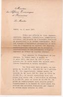 Francia, Doc MINISTRO, Paris 1957 - Decretos & Leyes