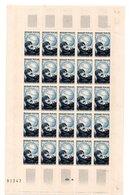 1951 FRANCE N° 907 - FEUILLE De 25  Timbres NOGUES Maurice  AVIATEUR (valeur Cote 27,50 Euros) - Full Sheets