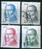 CHILE #765-768 -  DIEGO  PORTALES   4v - USED - Chile