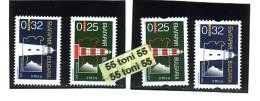2001/2003 Regular Issue Lighthouses - 2v. ( I+ II ) Issue MNH  Bulgaria / Bulgarie - Bulgarie