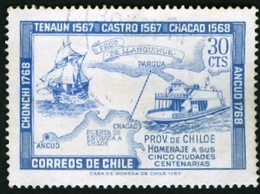 CHILE # 371 Founding Of Chiloé Province 1968 - USED  VERY FINE - Chile