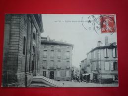 1911 AUCH EGLISE SAINT ORENS ET RUE LEDRU ROLLIN  ETAT BON - Auch