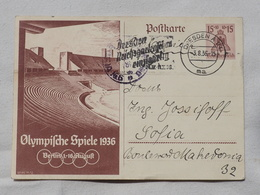 Germany Berlin Olympiade Stadion OLYMPISCHE SPIELE BERLIN 1936 Stamp    A 197 - Autres