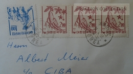ZA212.44  South KOREA - Cover To Switzerland   Stamps 1 Won + 3 X 2 Won  Cancel 1963 - Corée Du Sud