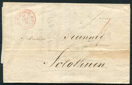 1851 Switzerland Zurich Entire - 1843-1852 Federal & Cantonal Stamps