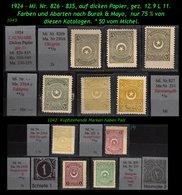 EARLY OTTOMAN SPECIALIZED FOR SPECIALIST, SEE...Mi. Nr. 826 - 35 - Burak 939 - 49 -R- - 1921-... República
