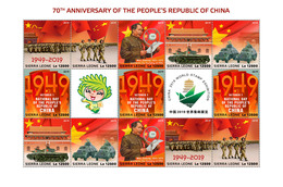 SIERRA LEONE 2019 - Mao Zedong, People's Republic Of China. Official Issue - Mao Tse-Tung