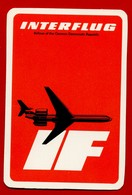 SMALL CALENDAR INTERFLUG AIRLINES OF THE GERMAN DEMOCRATIC REPUBLIC 1978 AK104-2 - Calendarios