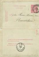 Belgique. CL 6  Elverdinghe > Roeselare  1894 - Marcofilia