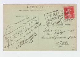 Sur CPA De Bray Dunes CAD Tireté Bray Dunes Nord 1927 Et Flamme. (2662) - Mechanical Postmarks (Advertisement)