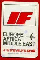 SMALL CALENDAR INTERFLUG DDR GDR AIRLINES EUROPE AFRICA MIDDLE EAST AK104-4 - Calendarios