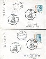 46127 Italia, 2 Covers With Special Postmarks, L'aquila + Ovindoli 2000, Pompieri, Feuerwehr,fireman,pompiers - Pompieri