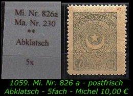 EARLY OTTOMAN SPECIALIZED FOR SPECIALIST, SEE....Mi. Nr. 826 A Mit Sauberen Abklatsch - 1921-... Republiek