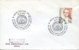 46129 Italia,  Cover With Special Postmarks, Qualiano Napoli 2001, Pompieri, Feuerwehr,fireman,pompiers - Pompieri