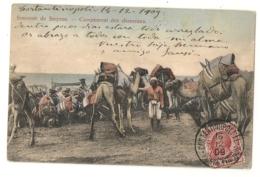 POSTE ITALIANE CONSTANTINOPOLI Pour BARCELONA SPAIN ESPANA - 1858-1921 Impero Ottomano