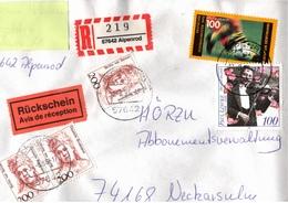 ! 1 Einschreiben Rückschein 1996 Mit R-Zettel  Aus Alpenrod, 57642 - [7] République Fédérale