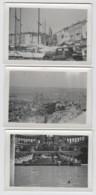 Marseille (13) Vieux Port, Longchamp, 3 Photos Amateur Sur Papier Contact 6x9 NB LUGDA LUMIERE - Altri