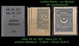 EARLY OTTOMAN SPECIALIZED FOR SPECIALIST, SEE....Mi. Nr. 833 - Mayo 237 Mit Seltenen Abklatsch -R- - 1921-... República