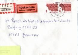 ! 1 Einschreiben Rückschein 1996 Mit R-Zettel  Aus Oelde, 59302 - R- & V- Vignetten