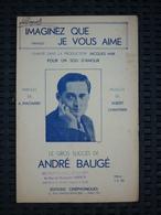 Partition: André Baugé: Imaginez Que Je Vous Aime/ Editions Cinéphoniques - Noten & Partituren