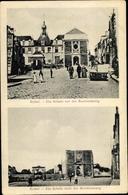 Cp Rethel Ardennes, Schule Vor Der Beschießung, Schule Nach Der Beschießung - France