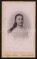 Photo-carte De Visite / CDV / Jeune Femme / Young Woman / Photographer / A. Lagast Huys / Oostende / 2 Scans - Photos
