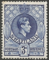 Swaziland. 1938-54 KGVI. 3d MH P13½ X 13. SG 32 - Swaziland (...-1967)