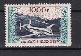 """Un Timbre N° 33   1000f  + Bréguet """"provence"""" Vue Aerienne D'Alger  Avec Une  Lègére Trace Sur La Gomme - Posta Aerea"""