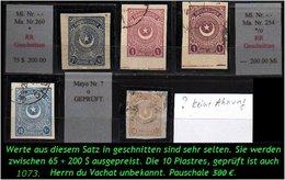 EARLY OTTOMAN SPECIALIZED FOR SPECIALIST, SEE....aus Mi. Nr. 936 - 842 C - 5 Geschnittene Werte -RR- - 1921-... República