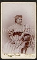 Photo-carte De Visite / CDV / Fille / Girl / Photographer / A. Ruys Morel / Tournai / Doornik - Anciennes (Av. 1900)