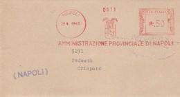 Napoli.1943. Affrancatura Meccanica Rossa AMMINISTRAZIONE PROVINCIALE DI NAPOLI - Marcofilia - EMA ( Maquina De Huellas A Franquear)