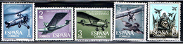 (3E 386) ESPAÑA // YVERT 1074, 1075, 1076, 1077, 1078 // EDIFIL 1401 à 1405 // 1961   NEUF - 1931-Aujourd'hui: II. République - ....Juan Carlos I