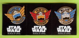 3 Pin's BD Disney Star Wars Rogue One Rebel Equadron - #588 - Disney