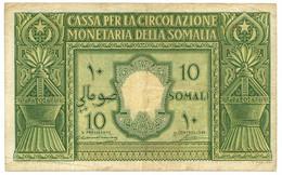 10 SOMALI CASSA PER LA CIRCOLAZIONE MONETARIA SOMALIA AFIS 1950 BB/BB+ - Terra Di Somalia