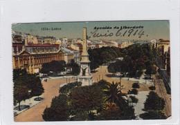 1914 CPA PORTUGAL- LISBOA. AAVENIDA DA LIBERDADE. CIRCULEE LE HAVRE PAQUEBOT  A BUENOS AIRES - BLEUP - Lisboa